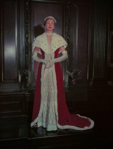 The alternative robe for a Baroness, Coronation of Elizabeth II, 1953.