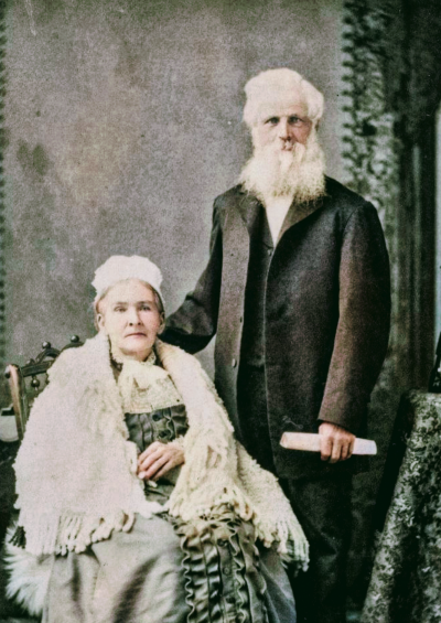 Tilda and Lewis Greene Colourised